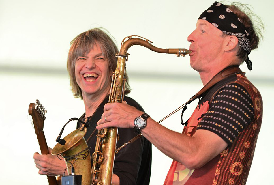 Mike Stern and Bill Evans at the Newport Jazz Festival Eva HambachAFPGett