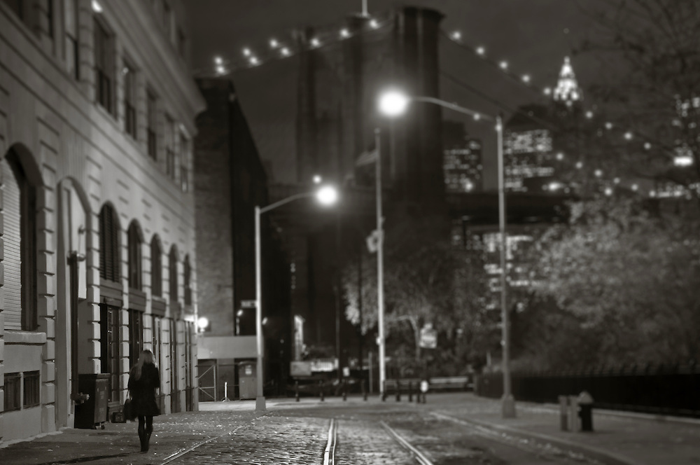 Wandering alone by the bridge, New York.DNG