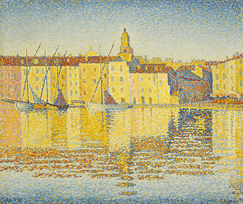 Paul-Signac-Maisons-du-Port-Saint-Tropez-1892-via-Sothebys May 10th, 2016. Paul Signac, Maisons du Port, Saint-Tropez (1892), via Sotheby's