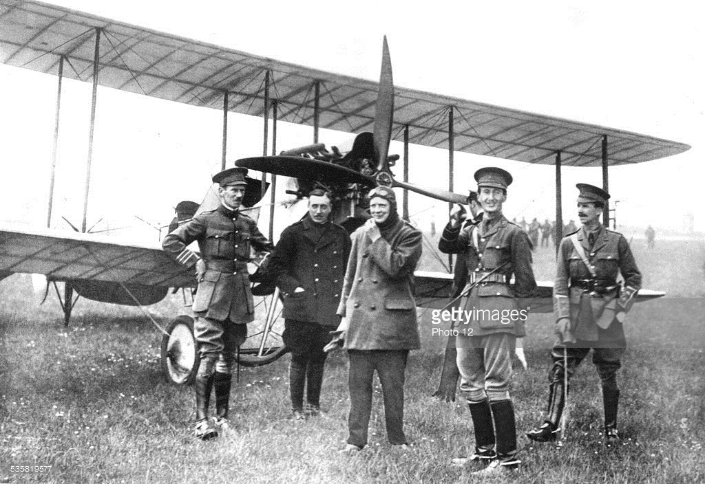 England. Winston Churchill in flying gear,, 20th century,, World War I