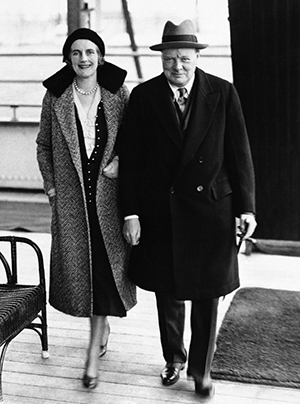 British Prime Minister Winson Churchill and his wife Clementine on board the SS Statendam in New York City, Jan. 25, 1932. (AP Photo)