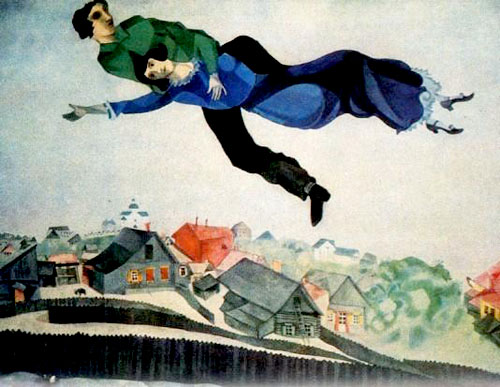 Marc Chagall Oil on canvas 1918  Flight