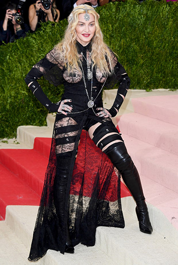 Madonna in Givenchy at the 2016 Met Gala