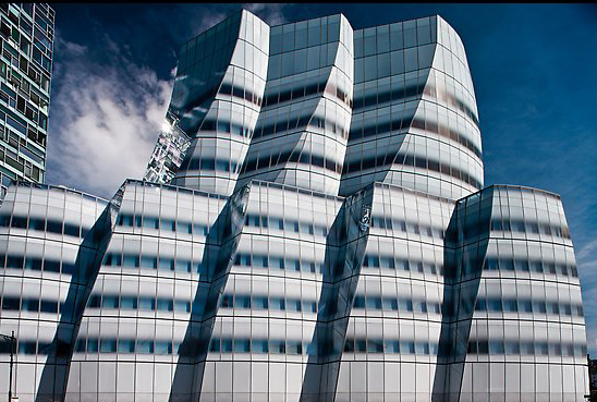 IAC building, designed by Frank Gehry. NYC, New York, USA