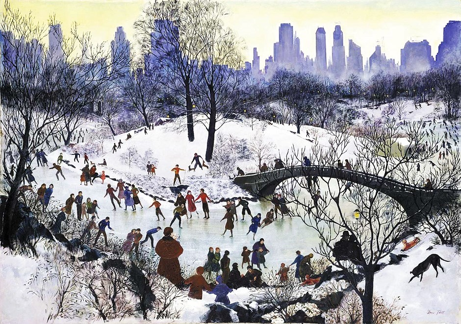 agnes-tait-american-artist-1894-1981-skating-in-central-park-1934