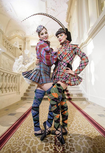 Ballerinas gone punk, thanks to fashion designer Vivienne Westwood